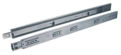 Drawer Slide Soft Close - Bottom Mount - Zinc - 300 to 700mm 1