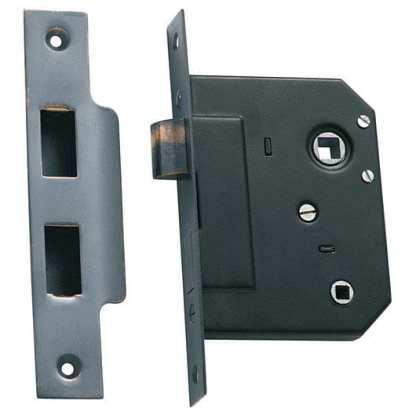 1145 - Bathroom Lock - Antique Copper - 44mm Backset 2