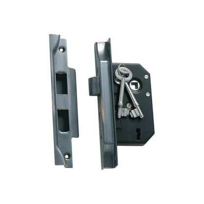 1148 - Rebated Lock - Antique Copper - 44mm Backset 1
