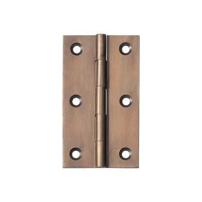 2370 Hinge - Butt Hinge - Fixed Pin - Antique Brass - 89x50x2.5mm 1