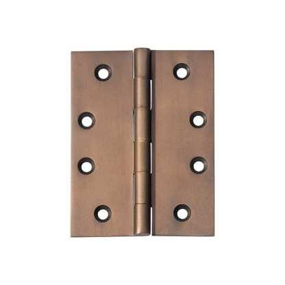 2373 Hinge - Butt Hinge - Fixed Pin - Antique Brass - 100x75x3mm 1