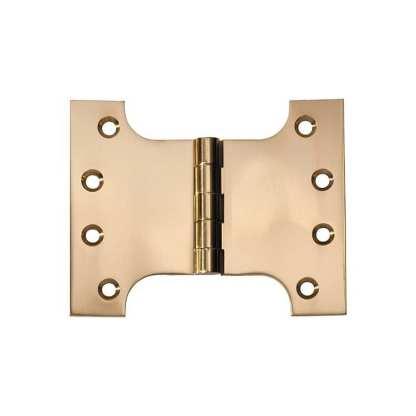 2481 Hinge - Parliament Hinge - Polished Brass - 100x125x4mm 1