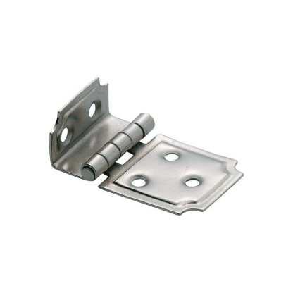 3797 Hinge - Offset Hinge - Sheet Iron - Nickel Plate - 50x30mm 1