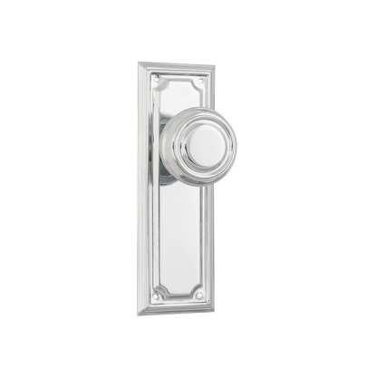 Tradco 9746 - Edwardian Knob Latch - Chrome Plate - 185x60mm 1