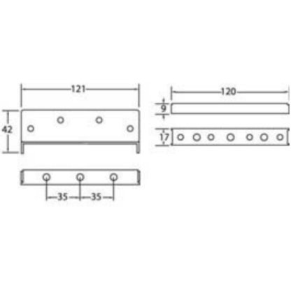 "Bed Bracket - Genuine ""Maxilock"" Heavy Duty - 120mm 1"