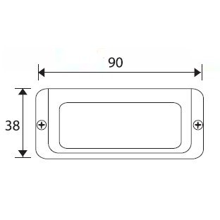 File Card Frame. 90mmx32mm. Brass Plated 2