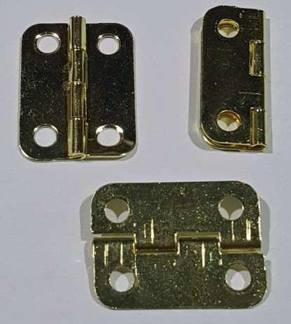 Butt Hinge - 22x15mm - Brass Plated 1