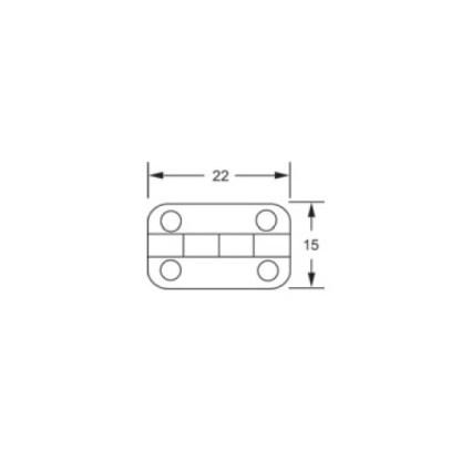Butt Hinge - 22x15mm - Brass Plated 2