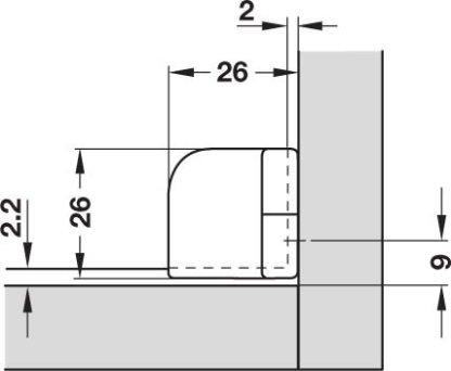Glass Door Hinge - 180 Deg Openning - Matt Nickel Finish - Price Per Pair 4