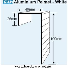 Pelmet Set 1830mm Powder Coated Aluminium White -Cowdroy P67710 3