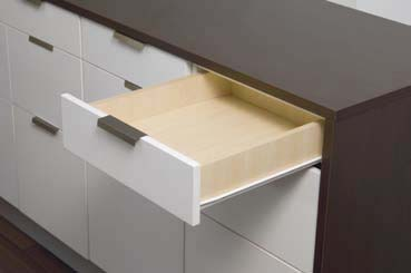Drawer Runner 550mm. Bottom Mount. White. 30kg Rated 1