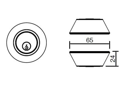Trio Double Cylinder Deadlock - Matt Black 3