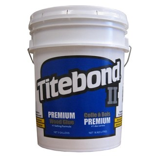 Titebond 2 Premium 19lt - Cross-linking PVA Wood Glue - Yellow colour - Dries Yellow