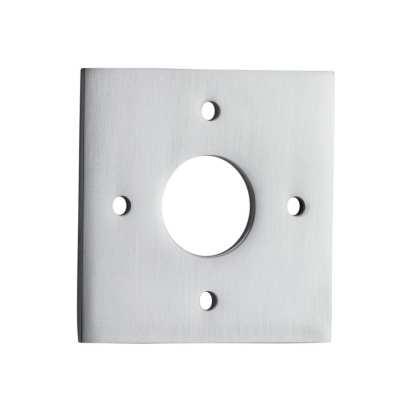 Tradco 0245 Adaptor Plate Pair Square Rose Satin Chrome H60xW60mm 1