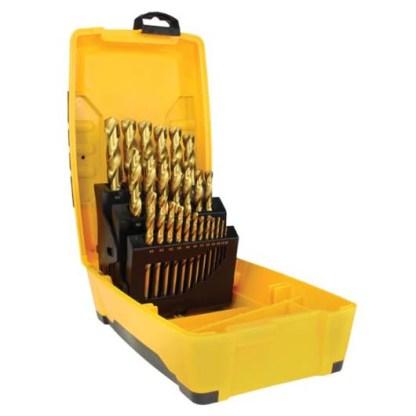 Drill Set 25pcs Metric - 1.0 - 13.0mm - High Speed Steel - Gold Series 1