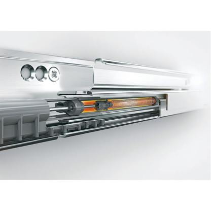 Blum Antaro Drawer Kit. 167mmH (C Series). Lengths 450mm to 550mm. Silk White / Glass - 65kg Rated 2