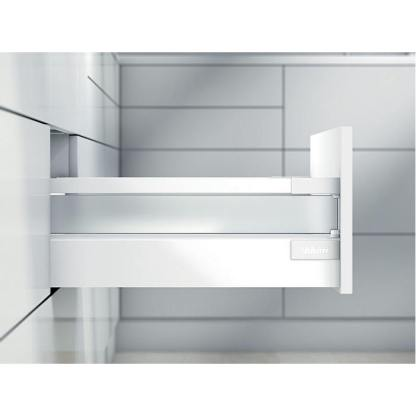 Blum Antaro Drawer Kit. 167mmH (C Series). Lengths 450mm to 550mm. Silk White / Glass - 65kg Rated 1
