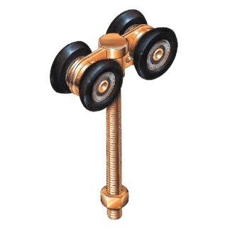 Four wheel door roller