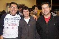 Miguel Espíndola, Roberto Vargas y Andrés Banda.