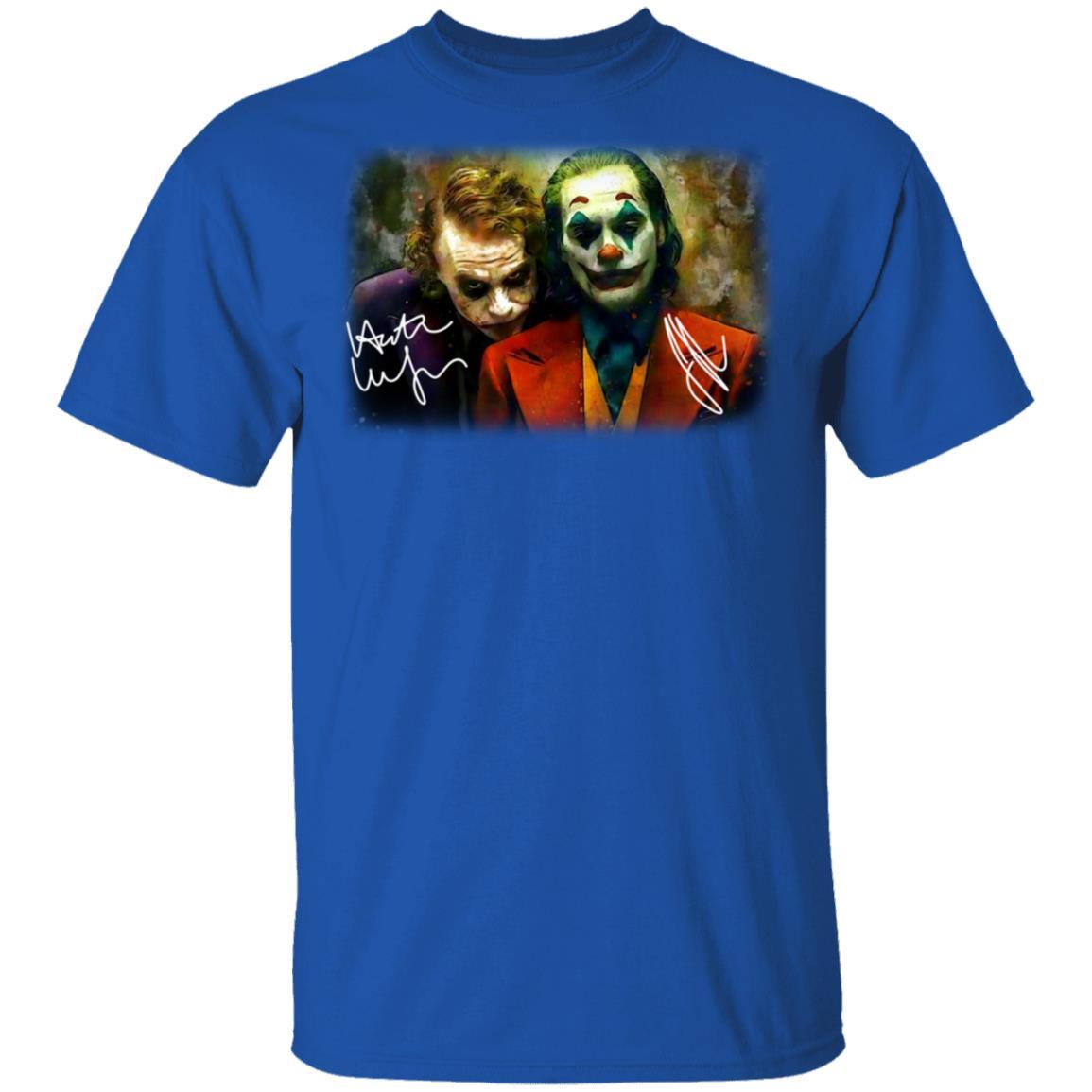 Joaquin Phoenix Joker Vs Heath Ledger Joker T Shirts El Real Tex Mex