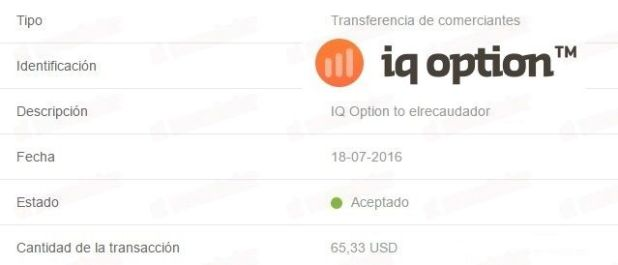 Pago de IQ Option