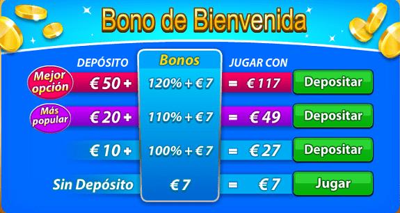 Gratorama recibir bono de bienvenida