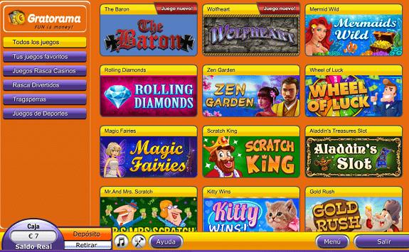 Gratorama juegos para ganar dinero