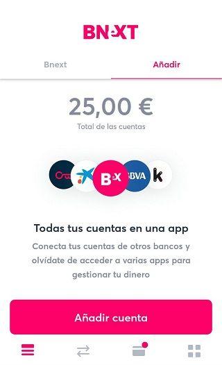 Vincular cuenta bancaria en Bnext