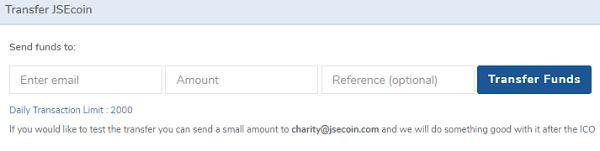 enviar dinero con JSEcoin