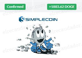 Comprobante de pago de SimpleCoin
