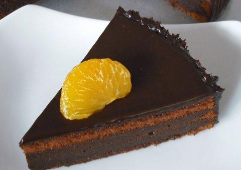 Receta de tarta de chocolate con naranja