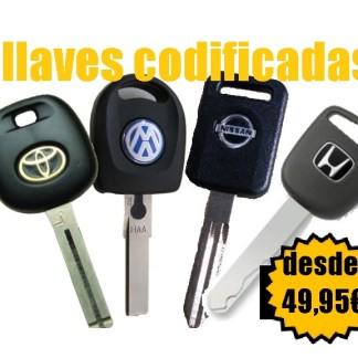 LLAVES CODIFICADAS VEHICULOS