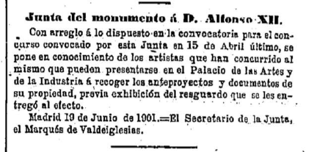 Gaceta de Madrid, 21 Junio de 1901