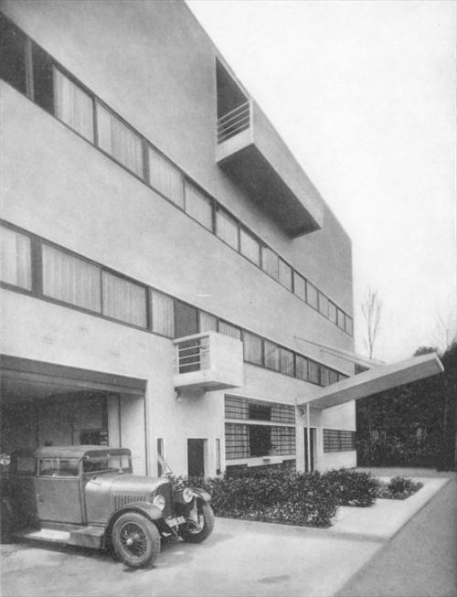 """Villa Stein-de-Monzie, """"Les Terrasses"""", Garches (Vaucresson), Francia, (1926)"""