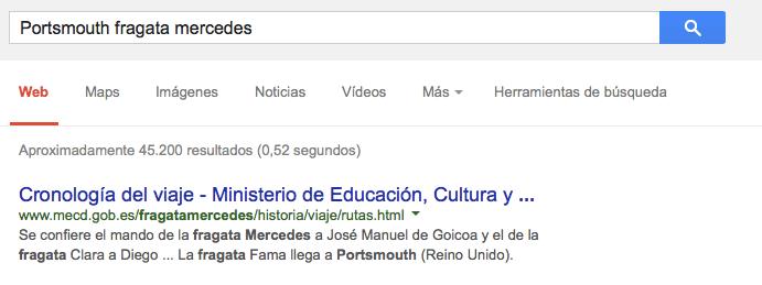 Captura de búsqueda en google