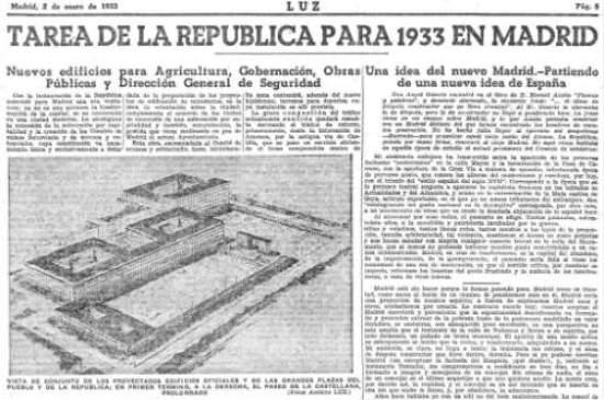Luz (Madrid. 1932). 2/1/1933, página 5.