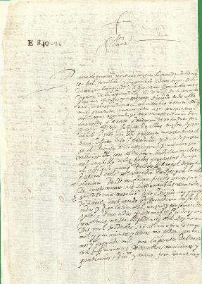 Carta de Red Hugh O'Donnell a Felipe III solicitando el envío de 2000 soldados para socorrer la causa irlandesa en la guerra contra Inglaterra.