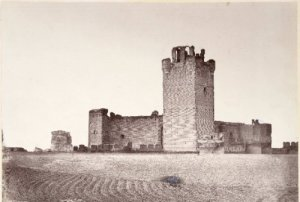 Castillo de La Mota en 1869 [Auguste Muriel]