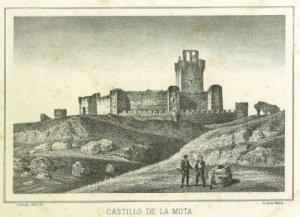 Castillo de La Mota en 1870