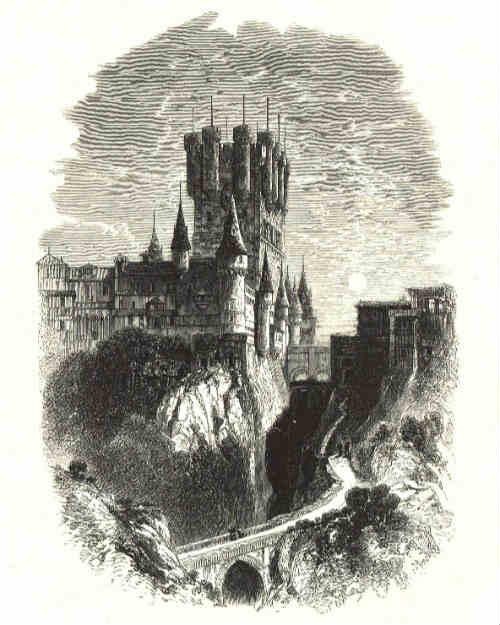 Alcázar de Segovia, Grabado de 1701 incendio