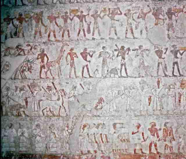 Mural de las ofrendas de los extranjeros a Tutmosis III