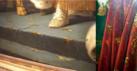 Detalles de abejas en retratos oficiales como Emperador