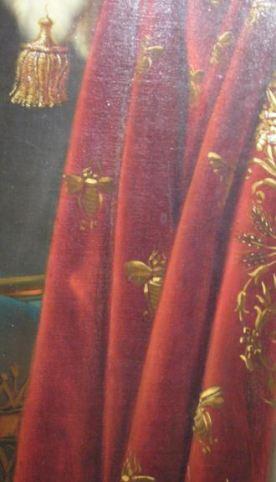 Detalle de las abejas en el manto de Napoleón