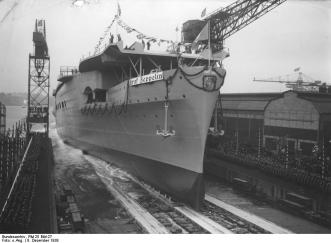 "Botadura del ""Graf Zeppelin"" (1938)"