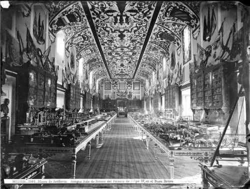 Museo de Artillería c 1870 (Sallón de Reinos)