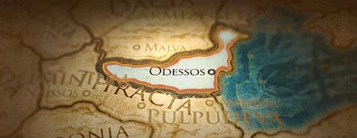 Ubicación del reino de Odrisia en Tracia [Mapa de Rome Total War]