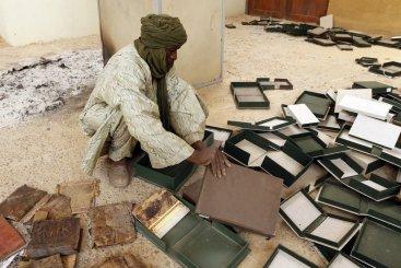 Destrucción de manuscritos en Tombuctú (2012)