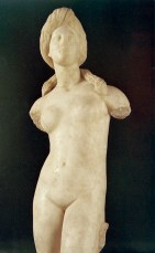Estatua de mármol de Afrodita encontrada en Solos, Museo de Morfou, siglo I a.C.