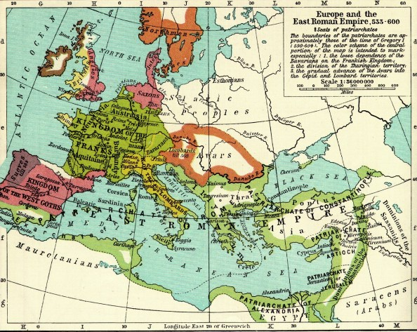 mapa europa siglo VI AD
