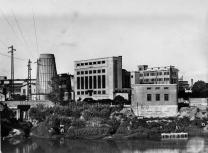 La Central termoeléctrica en 1942 (Archivo)